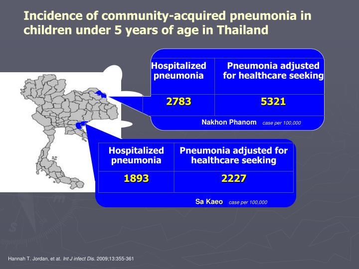 Incidence of community-acquired pneumonia in children under 5 years of age in Thailand