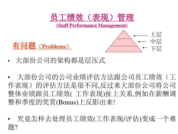 员工绩效(表现)管理