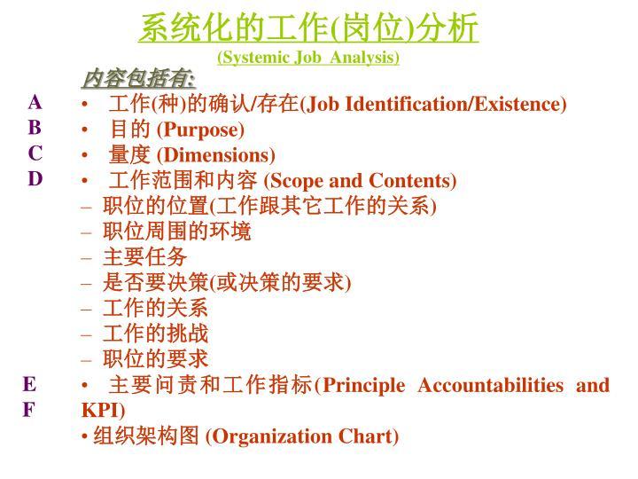 系统化的工作(岗位)分析
