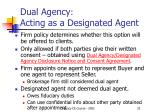 dual agency acting as a designated agent