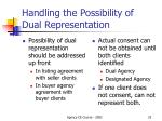 handling the possibility of dual representation