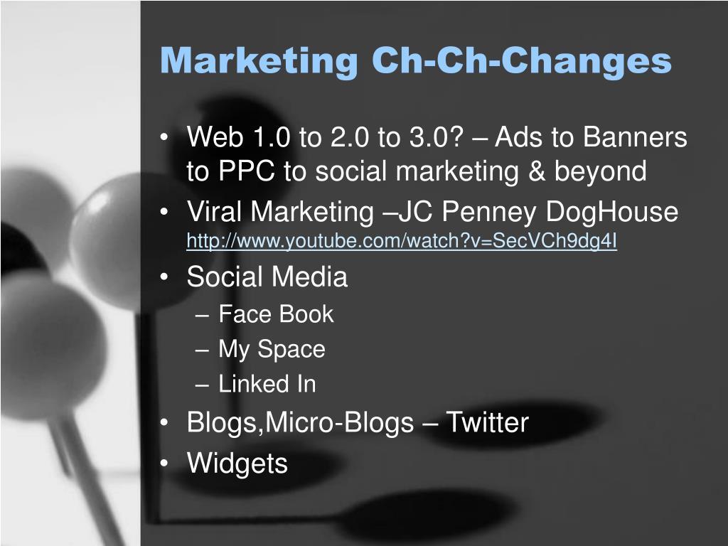 Marketing Ch-Ch-Changes