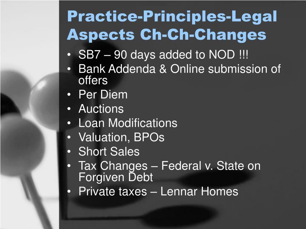 Practice-Principles-Legal Aspects Ch-Ch-Changes