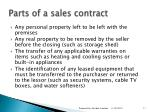 parts of a sales contract11