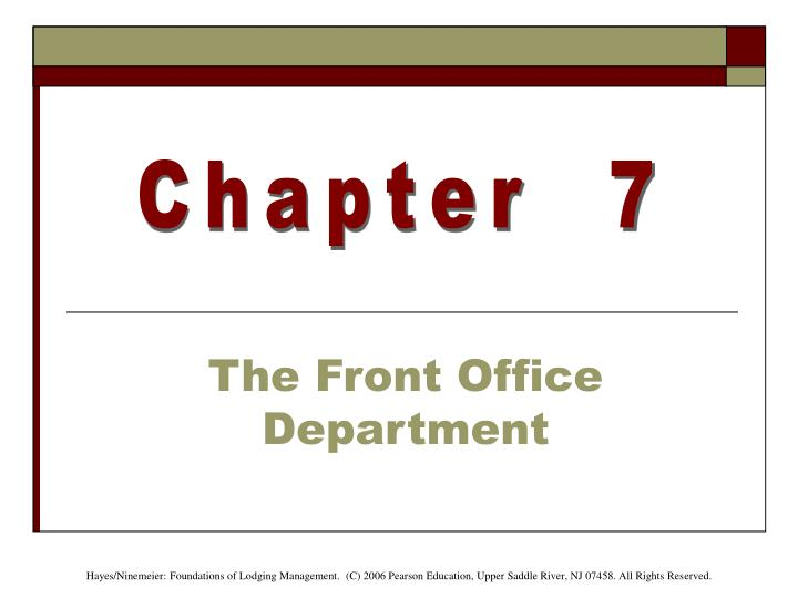 the front office department n.