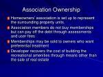 association ownership