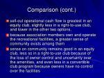 comparison cont