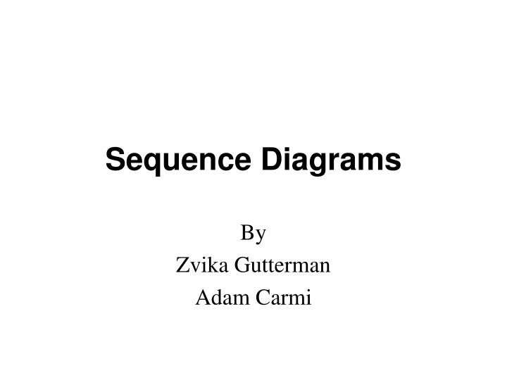 sequence diagrams n.