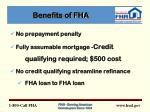 benefits of fha