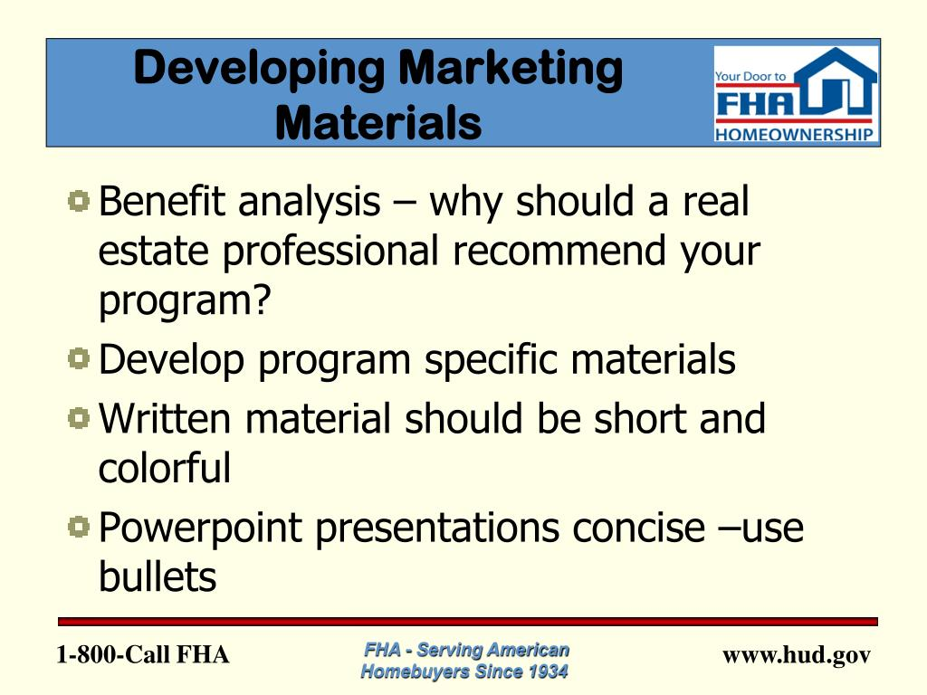 Developing Marketing Materials