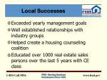 local successes