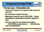 programs to help fthb