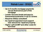 rehab loan 203 k9