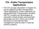 its public transportation applications