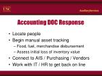 accounting doc response