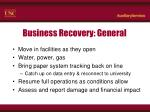 business recovery general