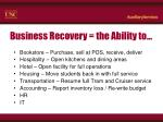 business recovery the ability to