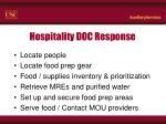 hospitality doc response