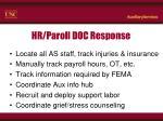 hr paroll doc response