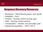 response recovery resources