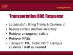 transportation doc response