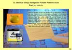 i 2 electrical energy storage and portable power sources