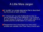 a little more jargon