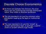 discrete choice econometrics