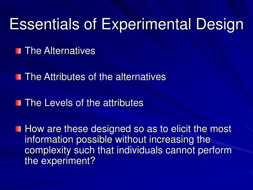 Essentials of Experimental Design
