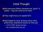 initial thought