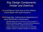 key design components huber and zwerina