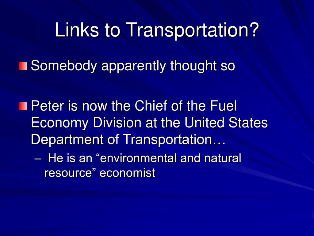 Links to Transportation?