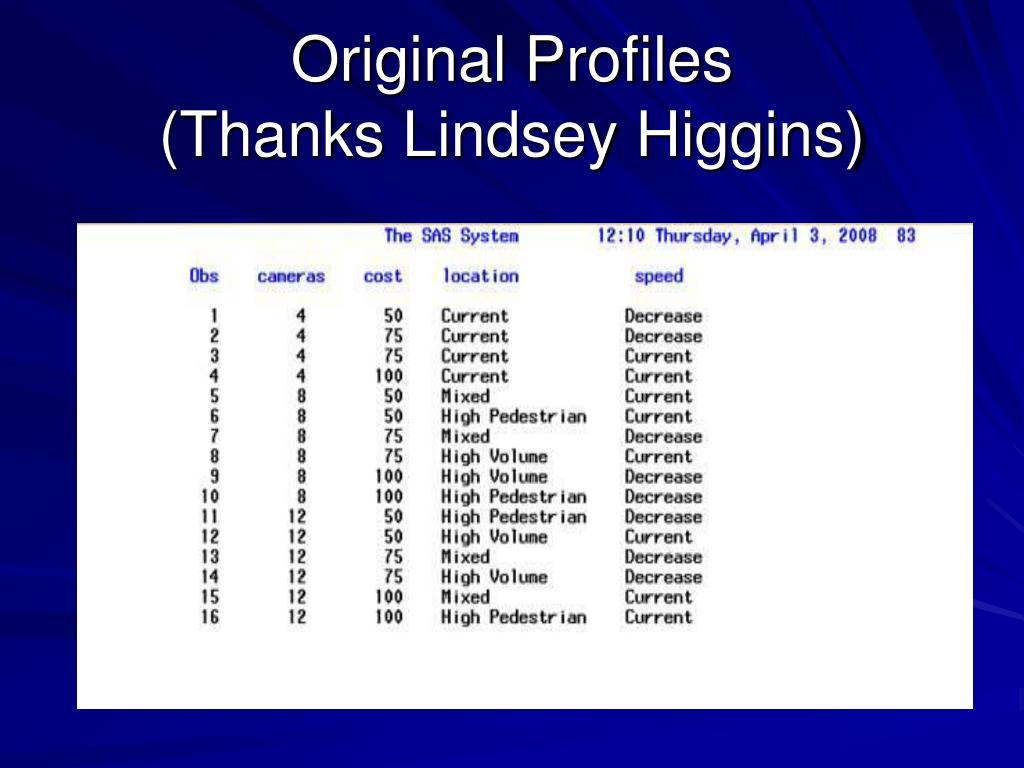 Original Profiles