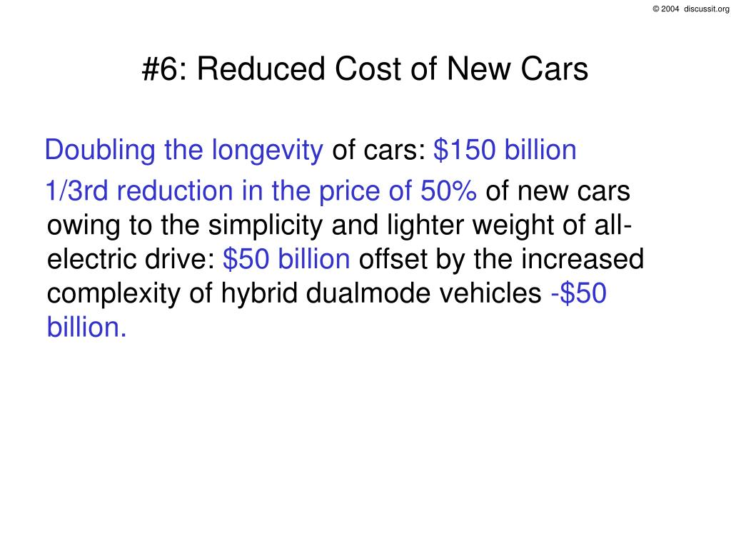 #6: Reduced Cost of New Cars