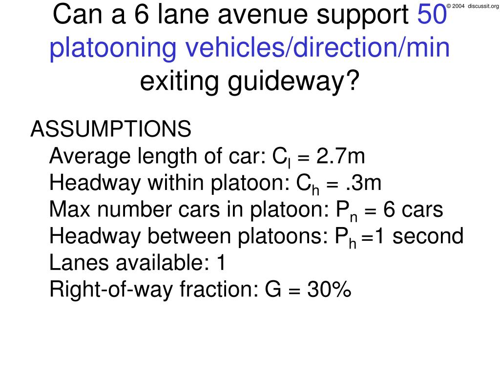 Can a 6 lane avenue support