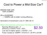 cost to power a mid size car