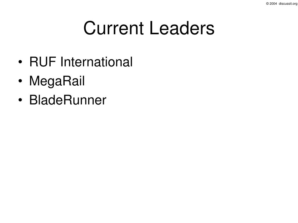 Current Leaders