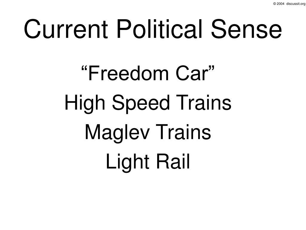 Current Political Sense
