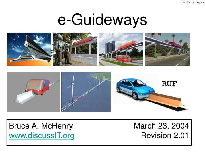 E guideways