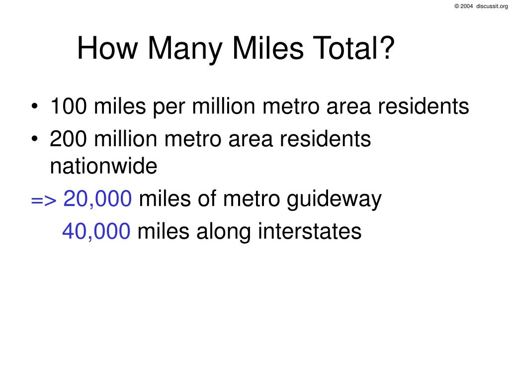 How Many Miles Total?