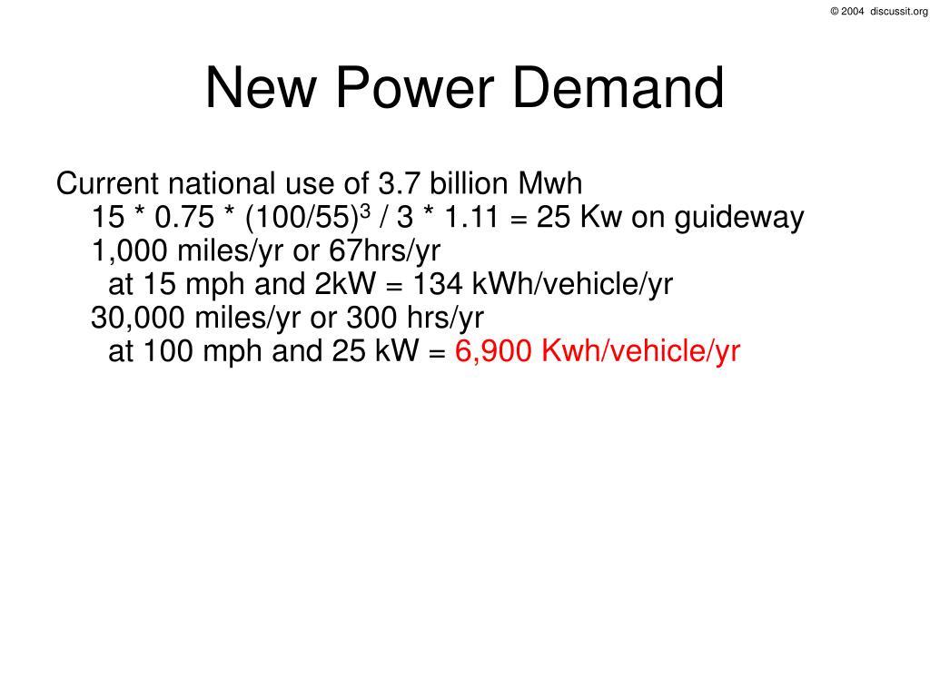 New Power Demand