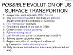 possible evolution of us surface transportion