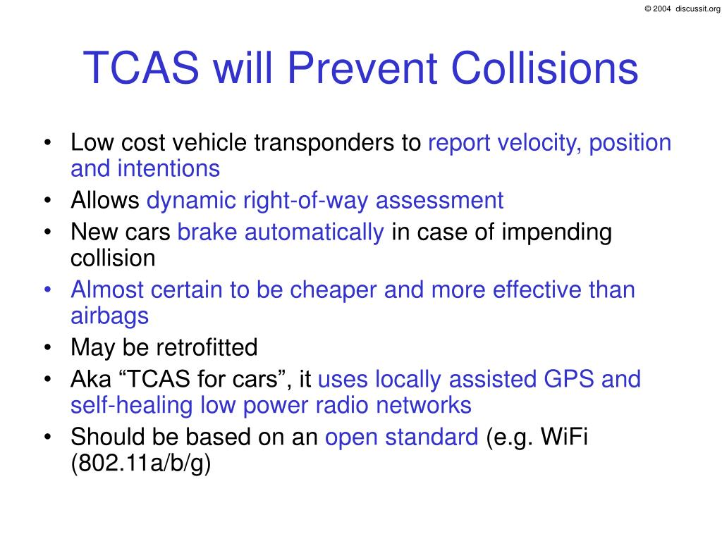 TCAS will Prevent Collisions