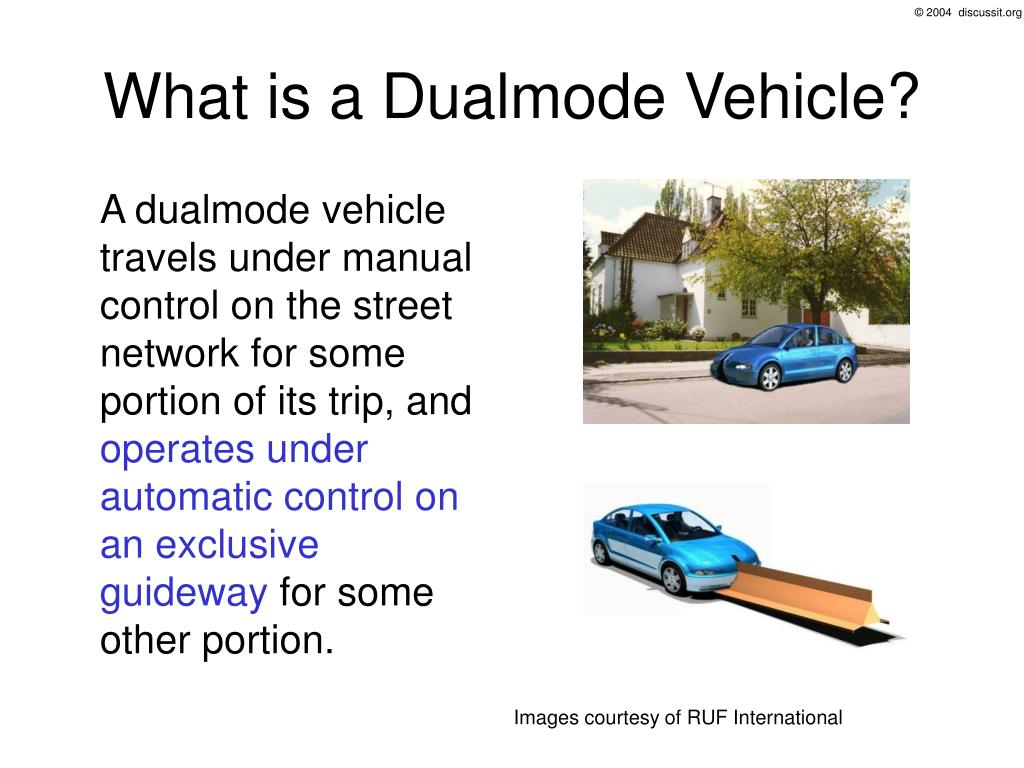 What is a Dualmode Vehicle?
