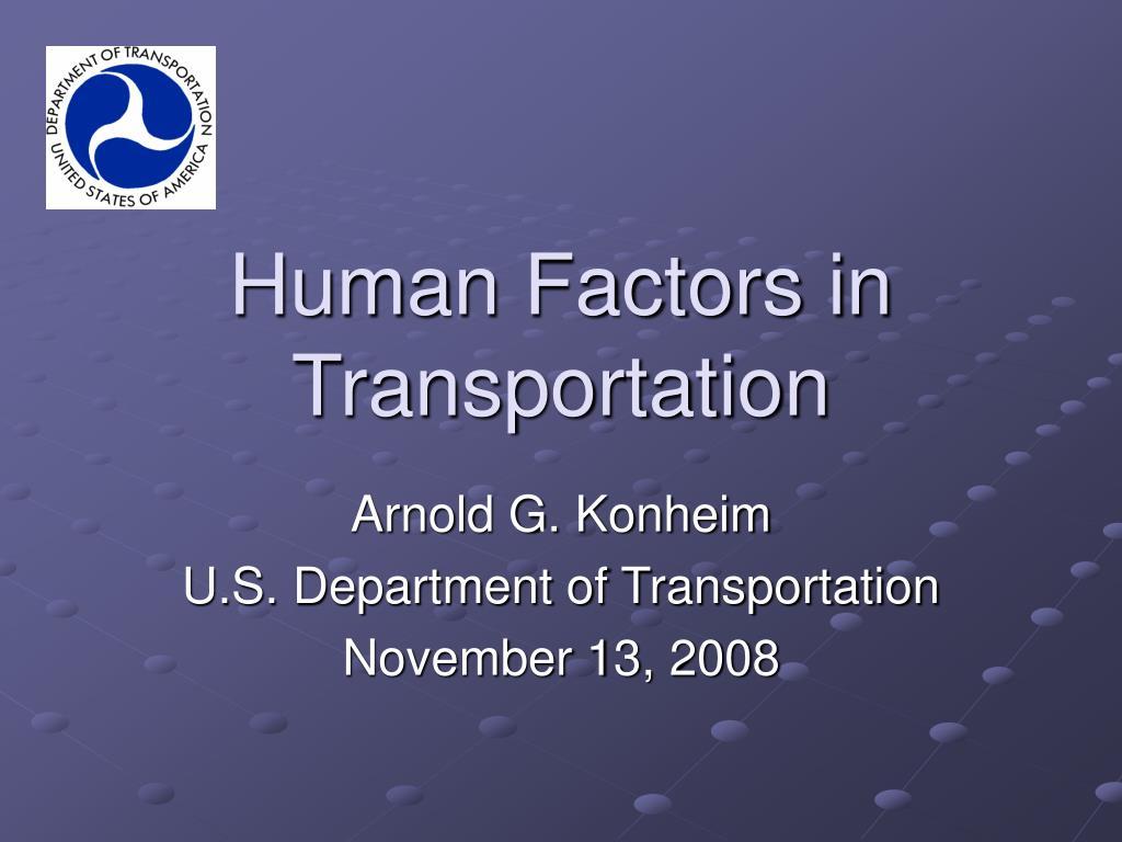 Human Factors in Transportation