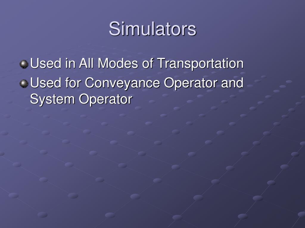 Simulators