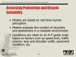 assessing pedestrian and bicycle suitability
