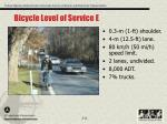 bicycle level of service e