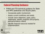 federal planning guidance