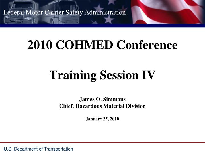 2010 cohmed conference training session iv